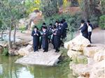 The Rebbe and Chassidim do Tashlich for the Day of Atonement