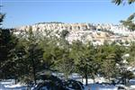 Jerusalem on a snowy day