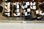 Mir Yeshiva students studying in Jerusalem